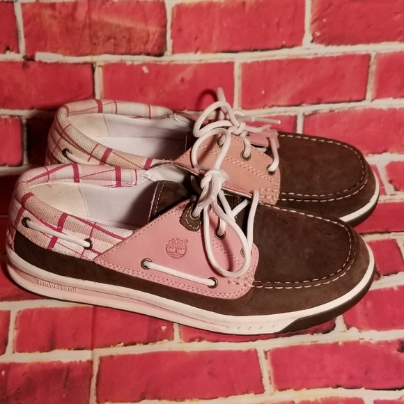 b95815a839c TIMBERLAND Deck Shoes Loafers Ladies Pink Plaid. M 5c5f0e9b12cd4aa501e8c4eb